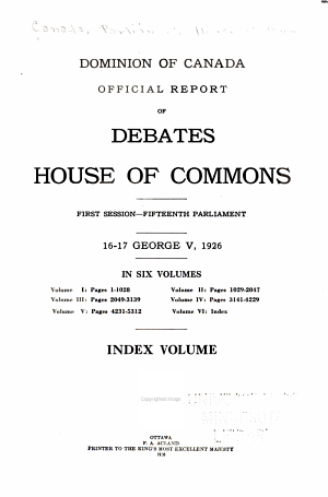 Official Reports of the Debates of the House of Commons of the Dominion of Canada PDF