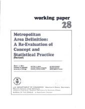 Metropolitan Area Definition: A Re-evaluation of Concept and Statistical Practice