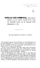 Verslag der commissie, belast met het afnemen van het examen, vermeld in art. 4 van het Koninklijk besluit van 10 September 1864