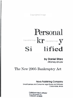 Personal Bankruptcy Simplified