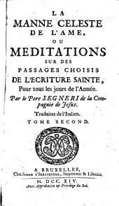 La manne céleste de l'âme, ou Méditations sur des passages choisis de l'Ecriture sainte pour tous les jours de l'année