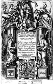 P. Virgilii Maronis priores sex libri Aeneidos argumentis explicationibus notis illustrati, auctore Joanne Ludovico de La Cerda...