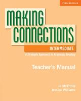 Making Connections Intermediate Teacher s Manual PDF