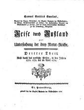 Reise durch Rußland zur Untersuchung der drey Natur-Reiche: Reise durch das nordliche Persien : in den Jahren 1770. 1771. bis im April 1772, Band 3
