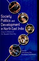 Society  Politics  and Development in North East India PDF