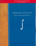 Student Solutions Manual for Stewart s Essential Calculus PDF