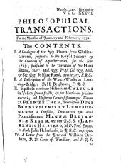 Philosophical Transactions, Giving Some Accompt of the Present Undertakings, Studies and Labors of the Ingenious in Many Considerable Parts of the World: Issues 417-426
