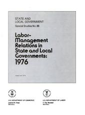 State and local government special studies: Issue 88