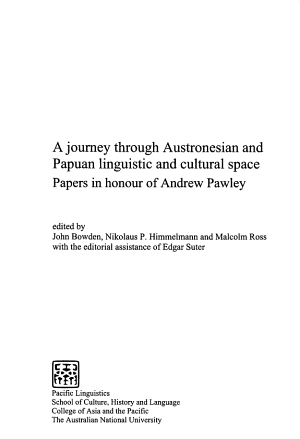 A Journey Through Austronesian and Papuan Linguistic and Cultural Space
