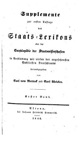 Staats Lexikon oder Encyklop  die der Staatswissenschaften PDF