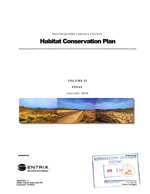 Southeastern Lincoln County Habitat Conservation Plan PDF