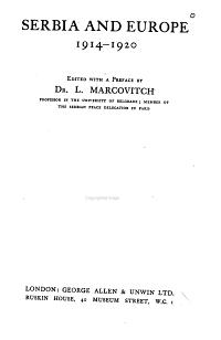 Serbia and Europe  1914 1920 PDF