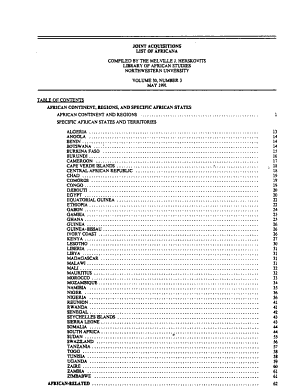 Joint Acquisitions List of Africana PDF