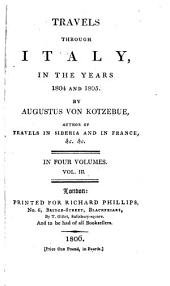 Travels Through Italy, in the Years 1804 and 1805: Volume 3