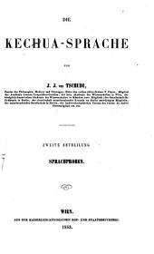 Die Kechua-Sprache: Sprachproben, Band 2