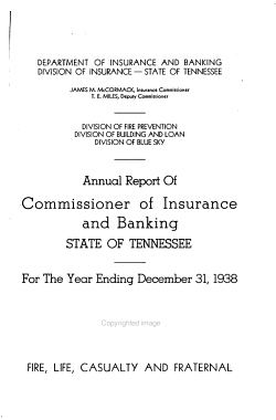 Annual Report of the Department of Insurance PDF