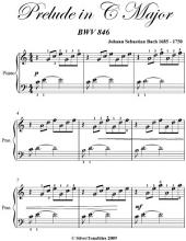 Prelude in C Major Easy Piano Sheet Music