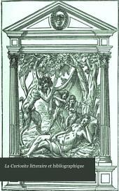 La Curiosite litteraire et bibliographique: Articles litteraires, Partie4
