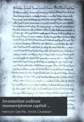 Inventarium codicum manuscriptorum capituli dertusensis
