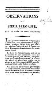 Observations du sieur Bergasse dans la cause du sieur Kornmann