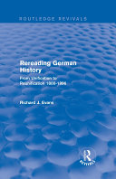Rereading German History (Routledge Revivals)