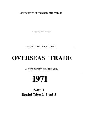 Overseas Trade Report