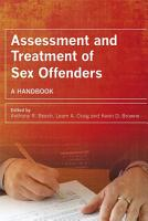 Assessment and Treatment of Sex Offenders PDF