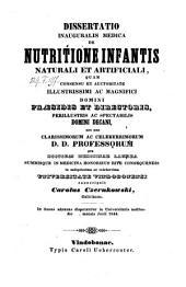 De nutritione infantis naturalis et artificiali