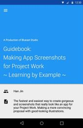 Guidebook: Making App Screenshots for Project Work: ~ Learning by Example ~