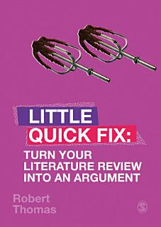 Turn Your Literature Review Into An Argument Book