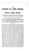 The Spirit of the press  and advocate of public freedom PDF