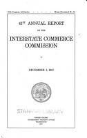 Annual Report of the Interstate Commerce Commission PDF
