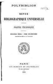 Polybiblion: Revue bibliographique universelle, Volume69