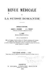 Revue médicale de la Suisse romande: Volume9