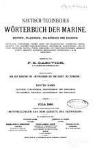Nautisch technisches W  rterbuch der Marine PDF