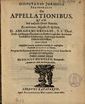 De appellationibus ...