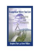 Evangelism Where You Live PDF