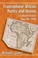 Francophone African Poetry and Drama PDF