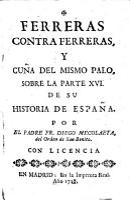 Ferreras contra Ferreras y cu  a del mismo palo sobre la parte XVI  de su historia de Espa  a PDF