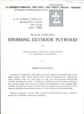 Wood finishing: finishing exterior plywood