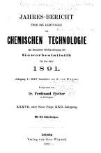 Jahresbericht uber die Fortschritte der chemischen Technologie fur Fabrikanten Hutten und Forsleute  Cameralisten  Chemiker und Pharmaceuten PDF