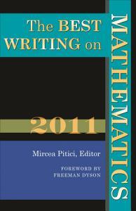 The Best Writing on Mathematics 2011 PDF