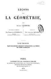 Leçons sur la géométrie: Traité des sections coniques et introduction à la théorie des formes algébriques