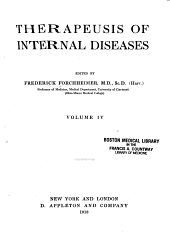 Therapeusis of Internal Diseases: Volume 4
