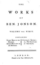 The Works of Ben. Jonson: Volume 1
