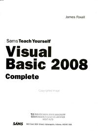 Sams Teach Yourself Visual BASIC 2008 in 24 Hours PDF