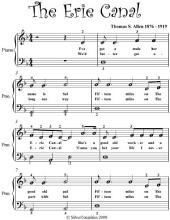 Erie Canal Easy Piano Sheet Music