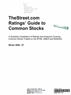 Weiss Ratings  Guide to Common Stocks Winter 06 07 PDF