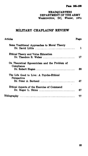 Military Chaplains  Review PDF