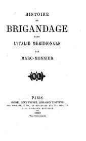 Histoire du brigandage dans l'Italie méridionale